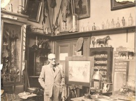 Guy Arnoux dans son atelier
