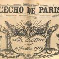 L'Echo de Paris 1919