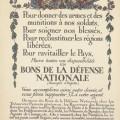 Guy Arnoux Bon de la défense Nationale
