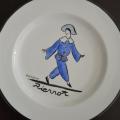 guy arnoux assiette Pierrot